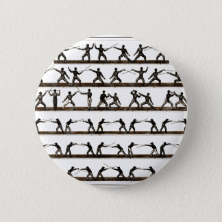 Vintage Fencing Instruction 6 Cm Round Badge