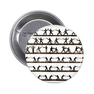 Vintage Fencing Instruction 6 Cm Round Badge