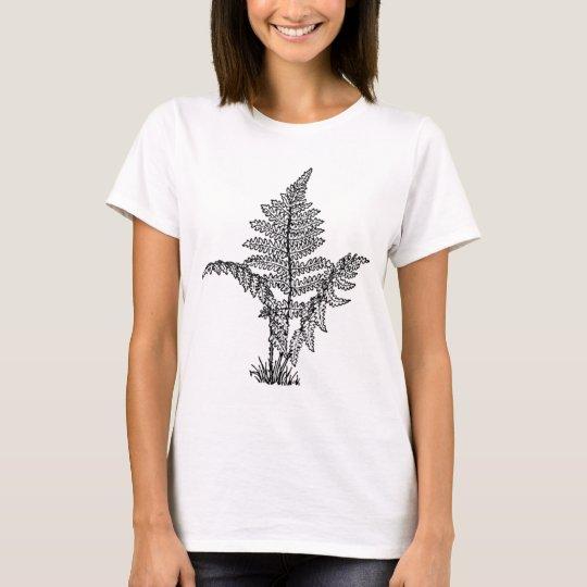 Vintage Fern Illustration T-Shirt