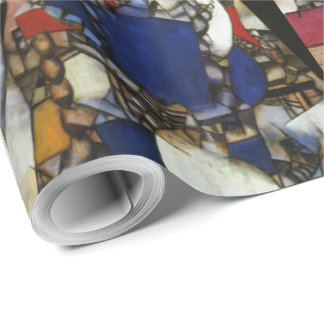 Vintage Fernand Leger Woman in Blue Wrapping Paper