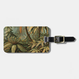 Vintage Ferns and Palm Tree Botanical Luggage Tag