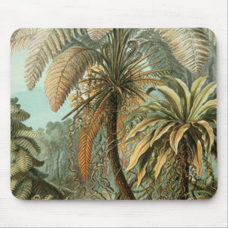 Vintage Ferns and Palm Tree Botanical Mouse Mat