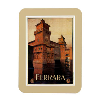 Vintage Ferrara Italian travel poster Rectangular Photo Magnet