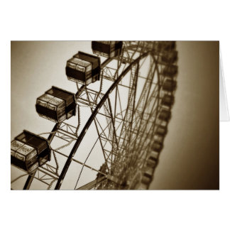 Vintage Ferris Wheel Card