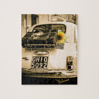 Vintage Fiat 500, Cinquecento in Italy Jigsaw Jigsaw Puzzle