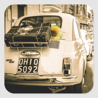 Vintage Fiat 500 Cinquecento in Italy stickers
