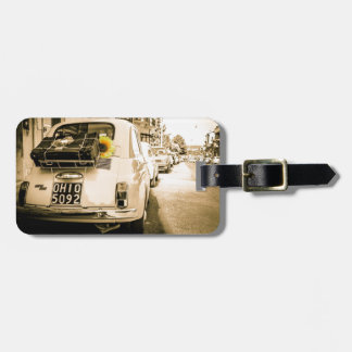 Vintage Fiat 500 in Italy Luggage Tag