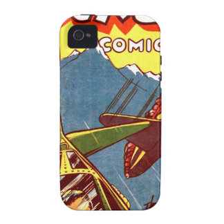 Vintage Fighter Aircraft Comic Vibe iPhone 4 Covers