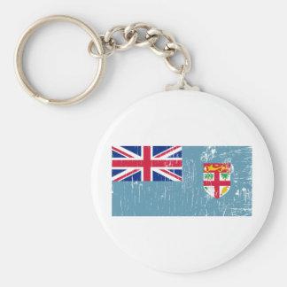 Vintage Fiji Basic Round Button Key Ring