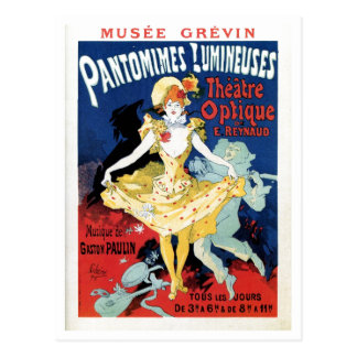 Vintage film history art nouveau postcard