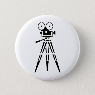 Vintage Film Movie Set Camera 6 Cm Round Badge