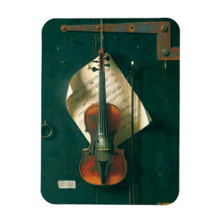 Vintage Fine Art, Old Violin Still Life by Harnett Magnet