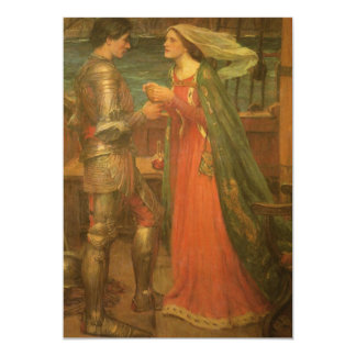 Vintage Fine Art, Tristan and Isolde by Waterhouse 13 Cm X 18 Cm Invitation Card