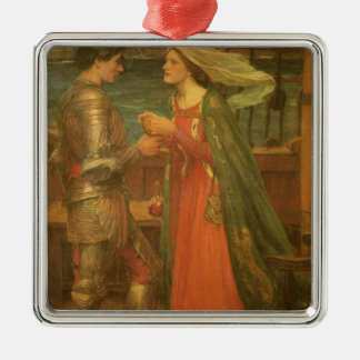 Vintage Fine Art, Tristan and Isolde by Waterhouse Silver-Colored Square Decoration