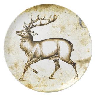 Vintage fineart F076 deer Plate