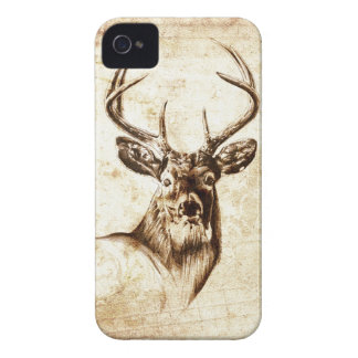 Vintage fineart F078 deer Case-Mate iPhone 4 Case