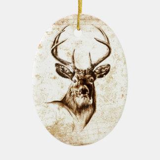 Vintage fineart F078 deer Christmas Ornament