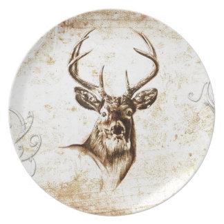 Vintage fineart F078 deer Plate