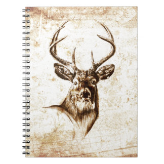 Vintage fineart F078 deer Spiral Notebook