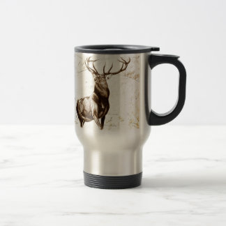 Vintage fineart F079 deer Travel Mug