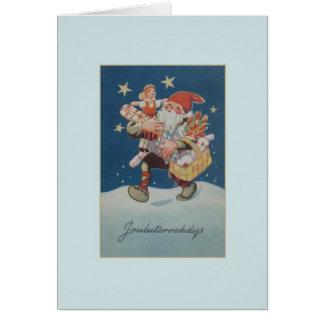 Vintage Finnish Joulutervehdys Christmas Card