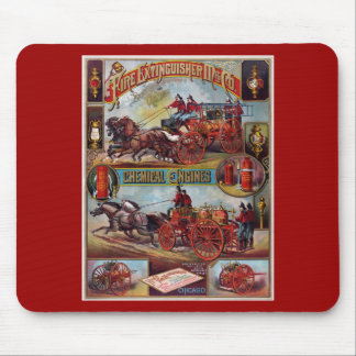 Vintage Fire Extinguisher Advertising Mouse Mat