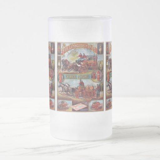 Vintage Fire Extinguisher Advertising Mugs