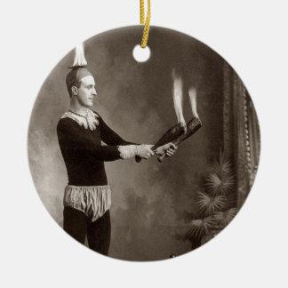 Vintage Fire Juggler Christmas Tree Ornaments