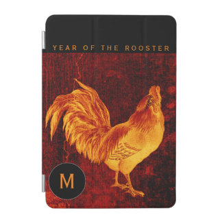 Vintage Fire Rooster Year 2017 Monogram I Cover iPad Mini Cover