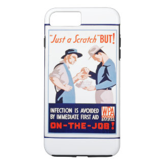 Vintage First Aid Safety On the Job WPA Poster iPhone 7 Plus Case