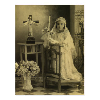 Vintage First Communion Postcard