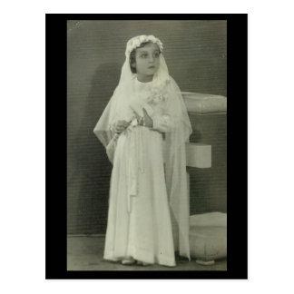 Vintage First communion Postcard