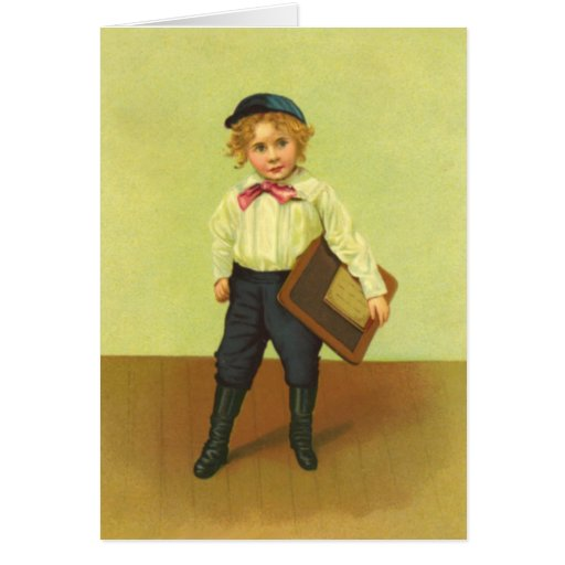 Vintage First Day of School Boy Cards