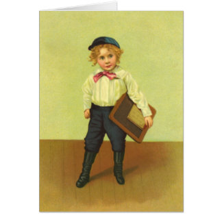 Vintage First Day of School Boy Note Card