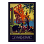 Vintage Firth of Forth Bridge Scotland Poster