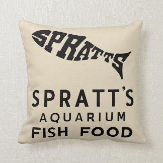 vintage fish food advert cushion