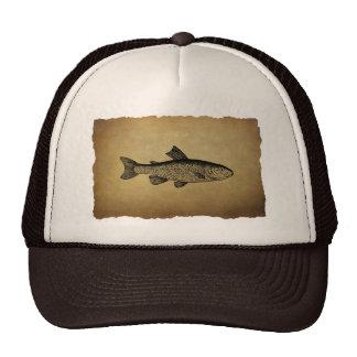 Vintage Fish Illustration Mesh Hats