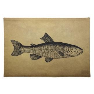 Vintage Fish Illustration Placemat