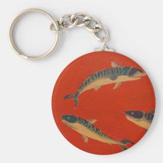 VINTAGE FISH PAINTING KEYCHAIN