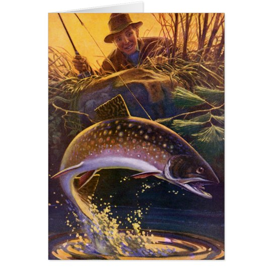 Vintage Fish, Sports Fishing Trout Catch n Release Card