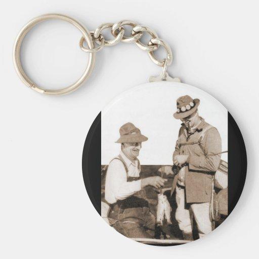 Vintage Fishermen Key Chain