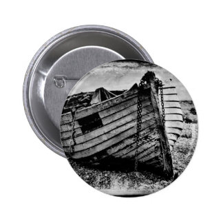 Vintage fishing boat. buttons
