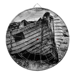 Vintage fishing boat. dartboard