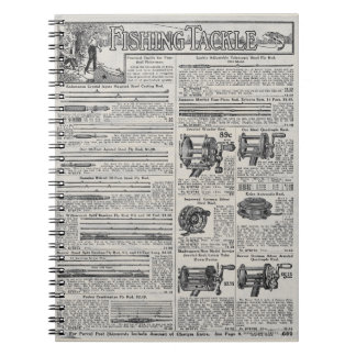 Vintage Fishing Tackle and Reels Notebooks
