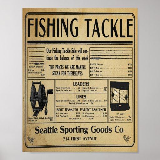 Vintage Fishing Tackle Store Print