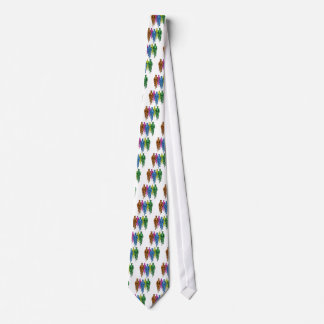 Vintage Five Fellas on Bikes Illustration Tie