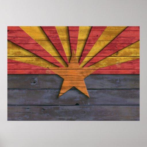 Vintage Flag of Arizona Poster