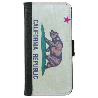 Vintage Flag of California iPhone 6 Wallet Case