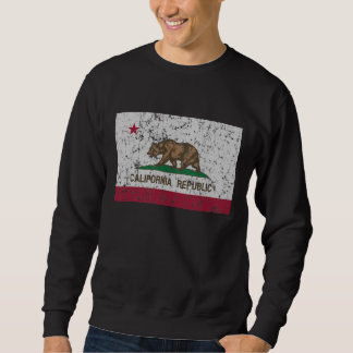 Vintage Flag of California State Pullover Sweatshirts