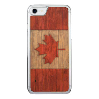 Vintage Flag of Canada Distressed Carved iPhone 8/7 Case